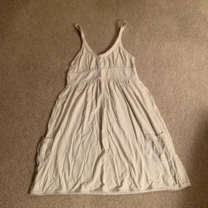 Abercrombie and Fitch light gray tank dress MED